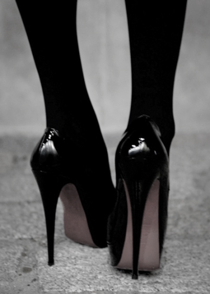 Pumps with Black Tights